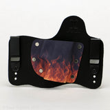 Flames Kydex Pattern on Black Hybird Holster