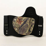 Rustic Camo Kydex Pattern on Black Hybird Holster
