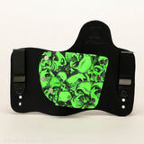 Zombie Skullz Kydex Pattern on Black Hybird Holster