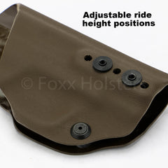 Adjustable Ride Height for Deluxe Trapp holster