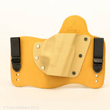 Desert Tan Kydex Color on Natural Leather Hybird Holster