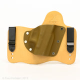Coyote Brown Kydex Color on Natural Leather Hybird Holster