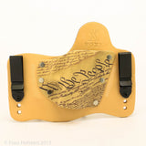We the People Kydex Pattern on Natural Leather Hybird Holster