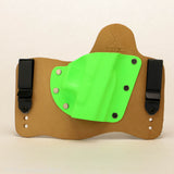 Zombie Green Kydex Color on Hybird Holster -Horsehide