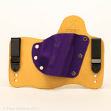 Packin Purple Kydex Color on Hybird Holster -Horsehide