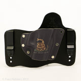 Don't Tread on Me Kydex Pattern on Black Hybird Holster
