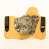 Desert Digital Camo Kydex Pattern on Natural Leather Hybird Holster