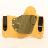 Carbon Fiber Sand Kydex Pattern on Natural Leather Hybird Holster