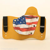 Old Glory Kydex Pattern on Natural Leather Hybird Holster