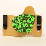 Zombie Green Kydex Color on Natural Leather Hybird Holster