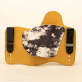 Arctic Storm Kydex Pattern on Natural Leather Hybird Holster