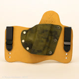 Sage Storm Kydex Pattern on Natural Leather Hybird Holster