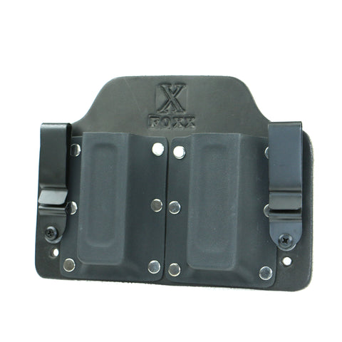 Double Magazine Carrier Holster IWB (Black Leather)