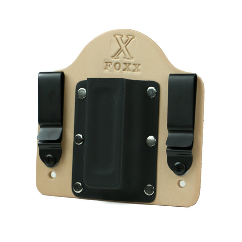 Single Magazine Carrier Holster IWB (Natural Leather)