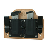 Double Magazine Carrier Holster IWB (Natural Leather)