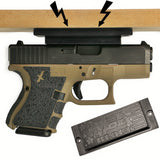 New & Improved Gun Magnet Foxx Block holding Glock