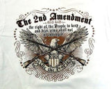 Closeup 2nd Ammendment with Eagle White Shirt