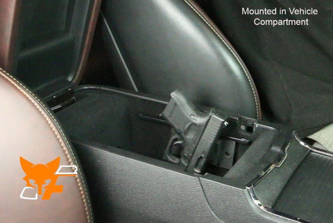 Easily mount in vehicle center console for easy access