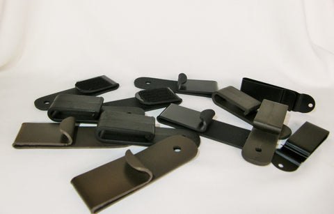All of the different clips available for the Hybrid Holsters
