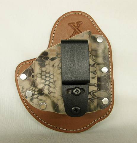 IWB holster -Bereeta Nano Rustic Leather & Kryptek Highlander