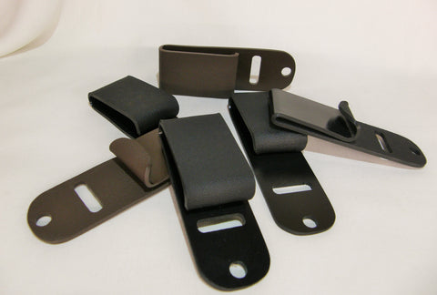All of the different clips available for the Little Foxx & Trapp Holsters