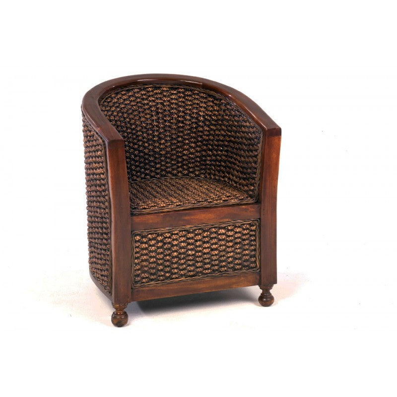 WATER HYACINTH TUB CHAIR WOODEN ARMS | Buy Online | Wardrobe & Armoire