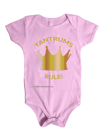 Tantrums Rule! - Baby Shower Gag Gift Onsie