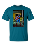Captain America - T Shirt Blue
