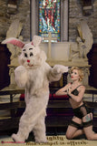 Easter bunny at church