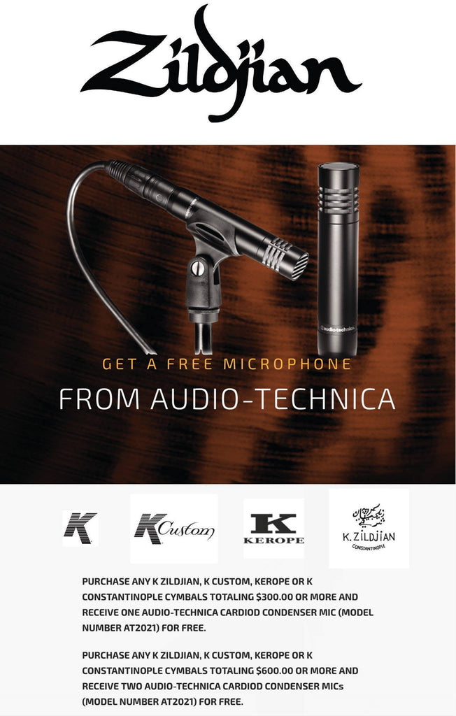 Zildjian Company and Audio-Technica USA are partnering up to offer you this...