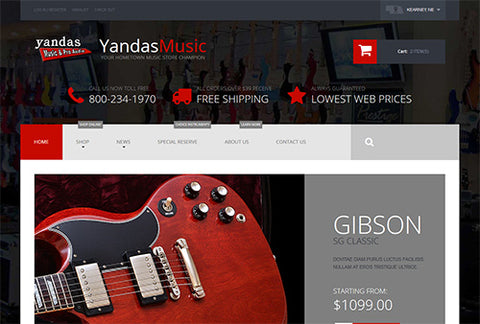 YandasMusic.com New Web Layout!
