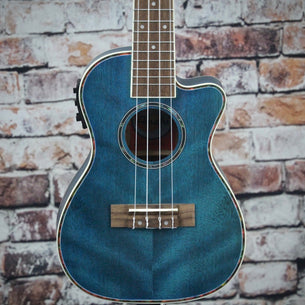 Amahi Acoustic/Electric Concert Ukulele | Dark Blue