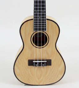 Amahi UK880 Classic Quilted Ash Concert Ukulele Without Electronics