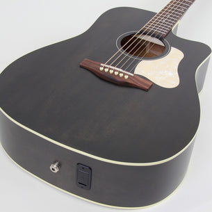 Art & Lutherie Americana CW Dreadnought Acoustic Electric Guitar | Faded Black
