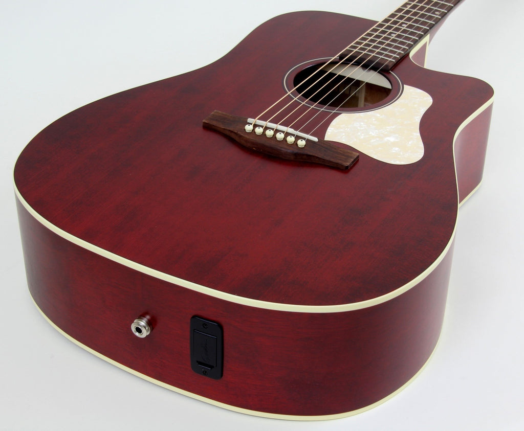 Art & Lutherie Americana CW Dreadnought Acoustic Electric Guitar | Tennessee Red