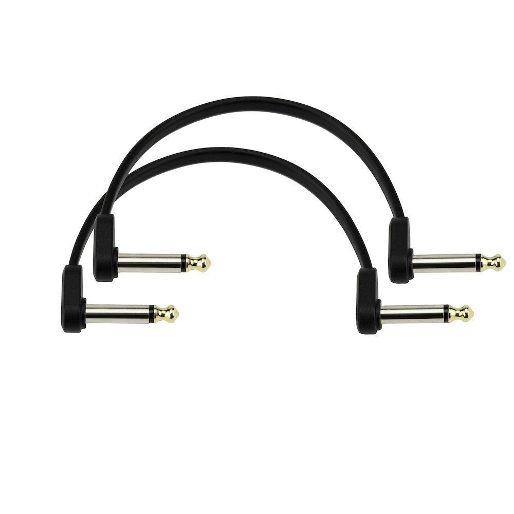 "D'Addario 6"" Flat Patch Cable Offset Right Angle Twin Pack"