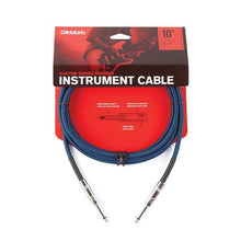 D'Addario Braided Instrument Cable, 20' - Blue