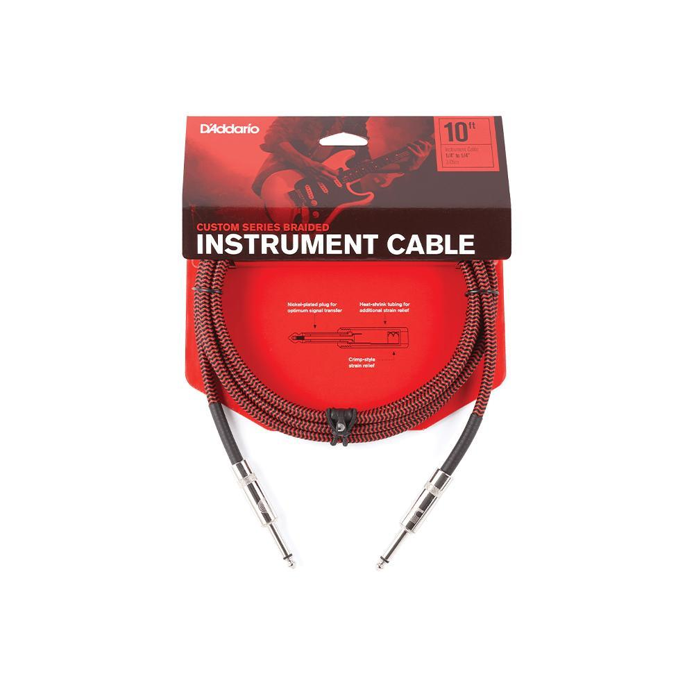 D'Addario Braided Instrument Cable | Red 20 ft