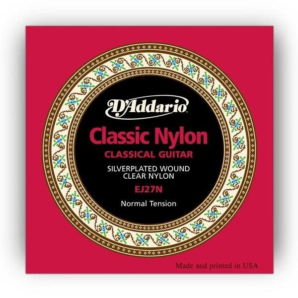 D'Addario EJ27N Nylon/Classical Guitar Strings | Normal Tension