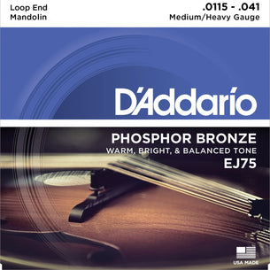 D'Addario EJ75 Medium/Heavy Mandolin Strings