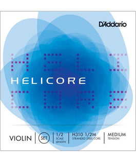 D'Addario Helicore 1/2 size Violin String Set Medium | H31012M