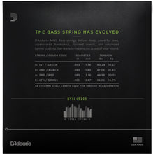 D'Addario NYXL Long Scale Bass Strings | Medium Bottom