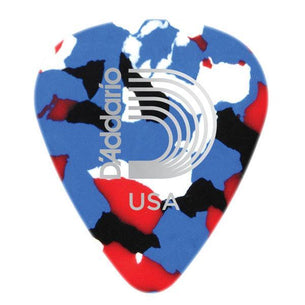 D'Addario Planet Waves Classic Celluloid Multi-Color Guitar Pick | 10 Pack