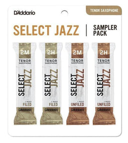 D'Addario Select Jazz Tenor Saxophone Reed Sampler Pack