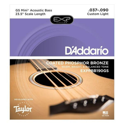 D'Addario Taylor GS Mini Bass Strings | Coated Phosphor Bronze