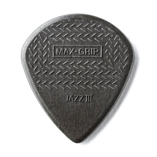 Dunlop Max Grip Jazz III Guitar Pick | 6 Pack