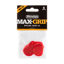 Dunlop Max Grip Jazz III Nylon Guitar Pick 6-Pack | 471P3N