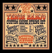 Ernie Ball Medium Tenor Banjo Strings | 10 - 30 Gauge | 2303