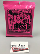 Ernie Ball Slinky Series Bass Guitar Strings 5 String Super Slinky