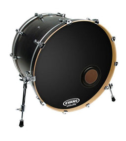 "Evans 22"" EMAD Resonant Black Bass Drum Head 